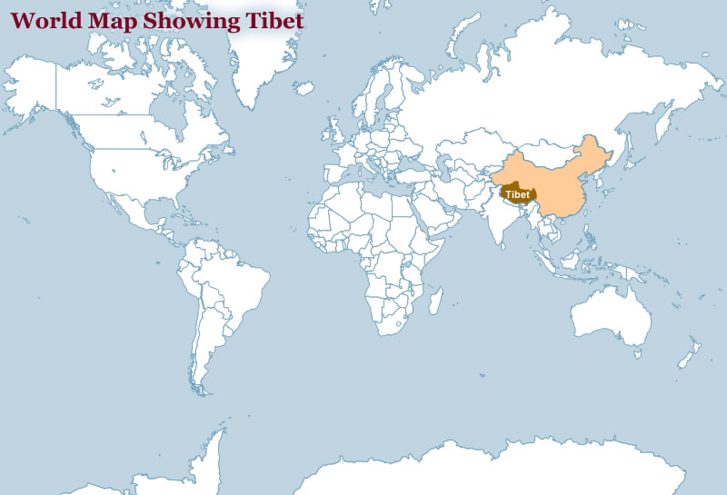 Tibet map world china tibet on world map gumiabroncs Image collections